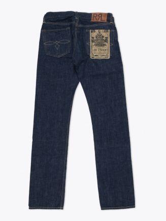 Double RL Low Straight Once-Washed Denim