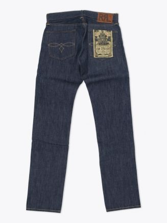 Double RL Low Straight Rigid Denim