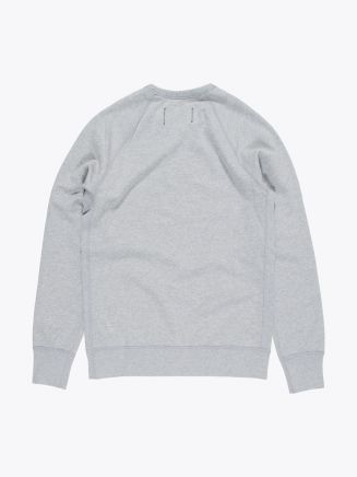 Reigning Champ Loopback Cotton Jersey Sweatshirt Heather Grey