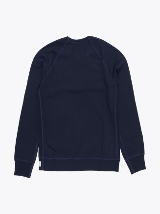 Reigning Champ Loopback Cotton Jersey Sweatshirt Navy Blue
