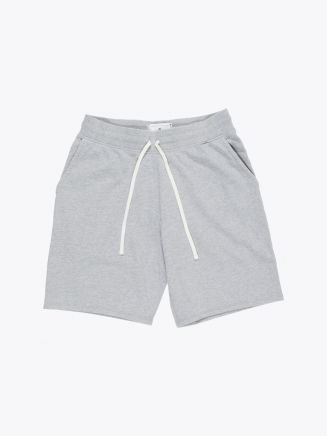 Reigning Champ Loopback Cotton Jersey Sweatshort Heather Grey