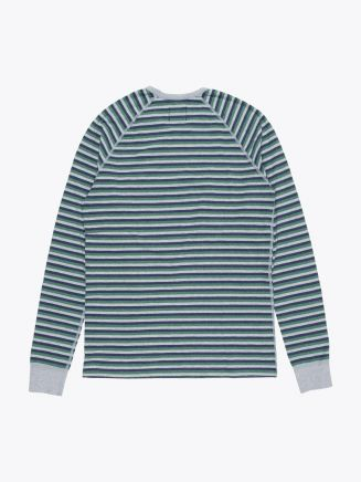 Reigning Champ Long Sleeve Striped Tee Grey