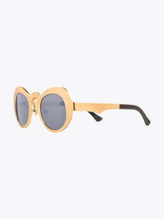 Rigards Metalloid 55 Sunglasses Gold Sanjuro