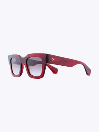 Robert La Roche + Christoph Rumpf Midnight Squared Sunglasses Crystal Ruby Red