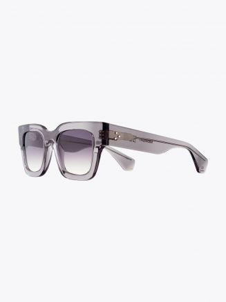 Robert La Roche + Christoph Rumpf Midnight Squared Sunglasses Crystal Smoke