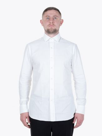 Salvatore Piccolo Slim Fit Cotton Oxford 120 Shirt White