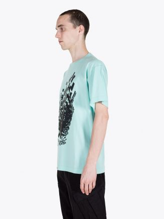 Stone Island Shadow Project 20510 Jersey Mako Printed Short Sleeve T-shirt Aqua