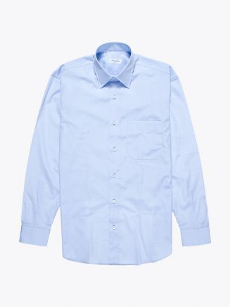Salvatore Piccolo Regular-Fit Cotton Poplin Blue
