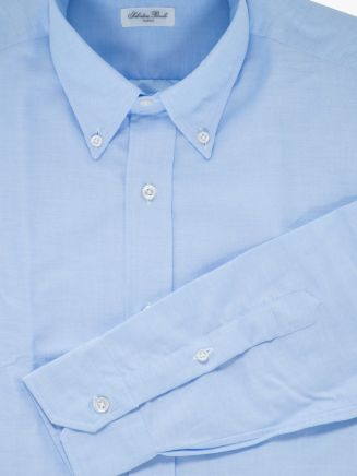 Salvatore Piccolo Slim Fit Button-Down Oxford 120 Shirt Blue