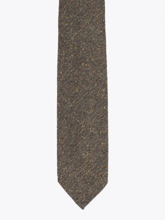 Salvatore Piccolo Ties Herringbone Silk Green