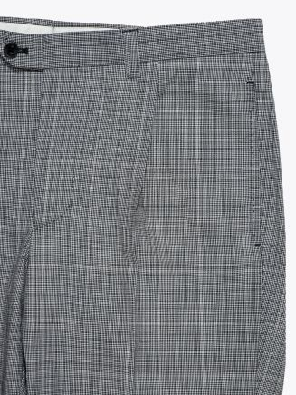 Salvatore Piccolo Slim-Fit Checked Pleated Suit Pants Grey / Black