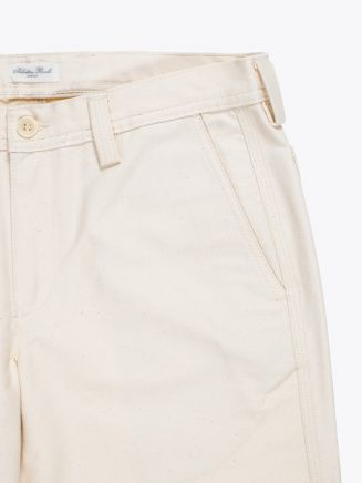 Salvatore Piccolo Tapered Leg Work Pant Ecru