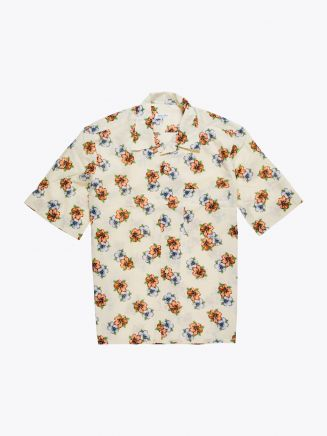 Salvatore Piccolo Camp-Collar Shirt Printed Beige