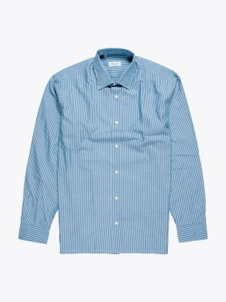 Salvatore Piccolo Regular Fit Shirt Striped Blue
