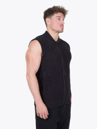 Stone Island Shadow Project 506A4 Asym Vest Black