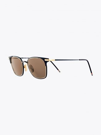 Thom Browne TB-107 Angular Sunglasses Matte Navy