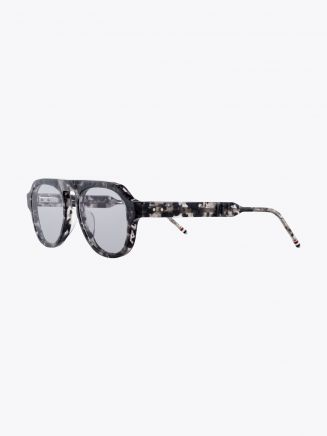 Thom Browne TB-416 Aviator Sunglasses Grey Tortoise