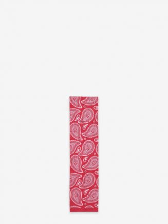 Universal Works Rayon Paisley Ascot Scarf Red