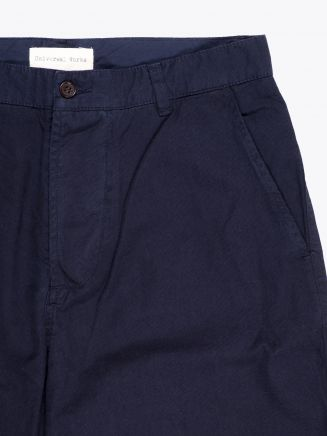 Universal Works Deck Short Canvas Navy