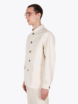 A Vontade Stand Collar Atelier Cotton Jacket Natural