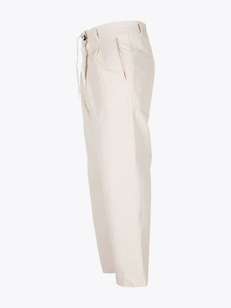 A Vontade 1 Tuck Atelier Easy Cotton Pants Natural
