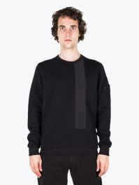 Stone Island 650F3 Ghost Piece Crewneck Sweatshirt Black 1