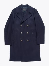 Paltò Double-Breasted Covert Coat Navy Blue 1