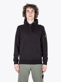 Stone Island 64151 Garment Dyed Hooded Sweatshirt Black 1