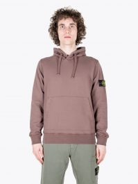 Stone Island 64151 Garment Dyed Hooded Sweatshirt Marrone Mogano