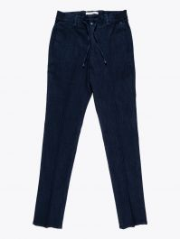 Giab's Archivio Masaccio Cotton Drawstring Pants Denim Blue 1