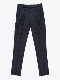 Giab's Archivio Cocktail Wool Pleated Pants Check Anthracite / Grey 1