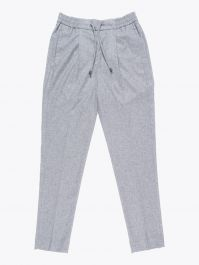 Giab's Archivio Tintoretto Wool Drawstring Pants Grey Melange