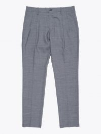 Giab's Archivio Verdi  Slim-Fit Stretch Wool Pleated Pants Grey 1