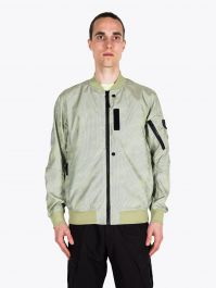 Stone Island Shadow Project 40204 Lenticular Jacquard Bomber Jacket Lemon 1