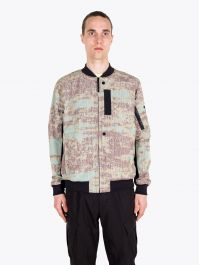 Stone Island Shadow Project 40412 DPM Chiné Bomber Jacket Rust 1