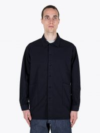 A Vontade Gardener Cotton Shirt Jacket Dark Navy 1