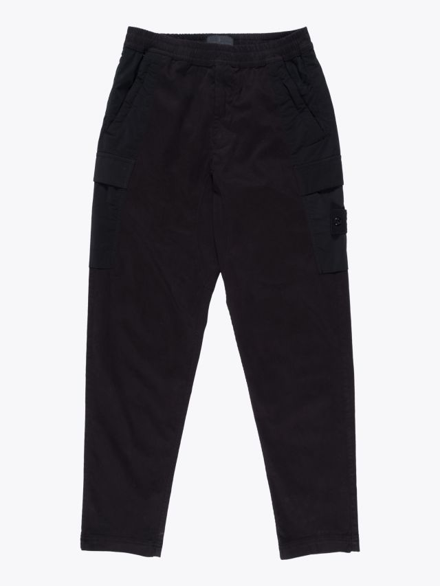 Stone Island 312F2 Ghost Piece Cargo Trousers Black 1