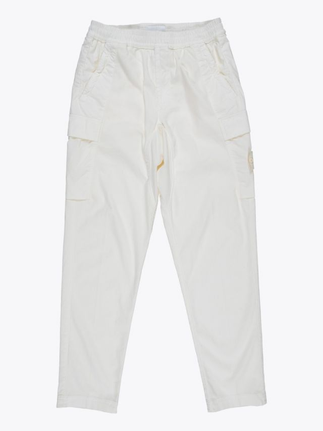 Stone Island 312F2 Ghost Piece Cargo Trousers Natural White 1