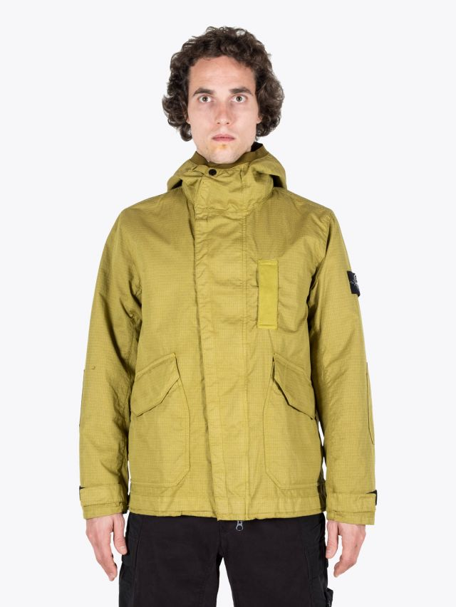 Stone Island 43999 Reflective Hooded Jacket Mustard 1