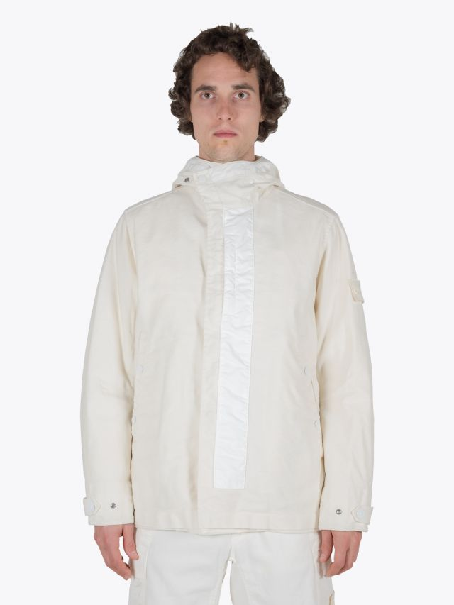 Stone Island 442F1 Ghost Piece Hooded Jacket Natural White 1