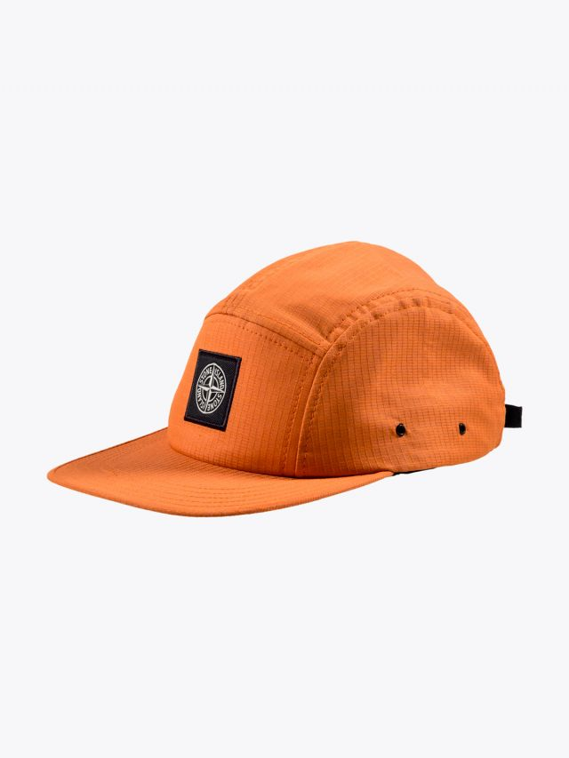 Stone Island 99094 Reflective Five-Panel Cap Orange 1