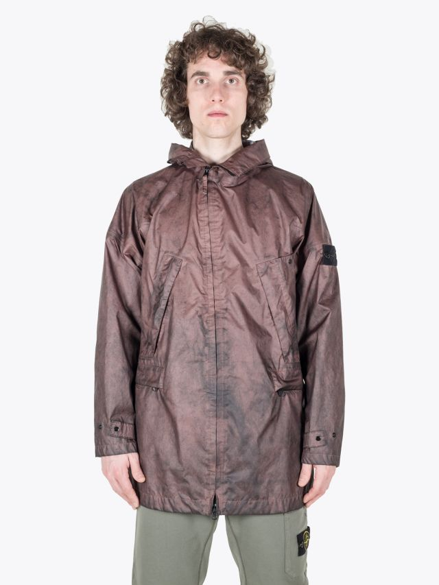 Stone Island 70124 Membrana 3L Dust Colour Finish Parka Marrone Mogano 1
