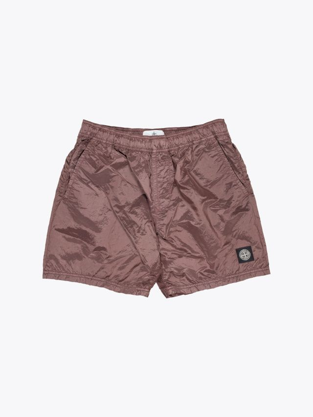 Stone Island B0943 Nylon Metal Swim Shorts Marrone Mogano 1