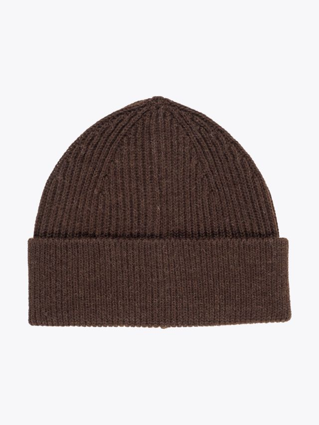 Andersen-Andersen Wool Classic Beanie Natural Brown 1