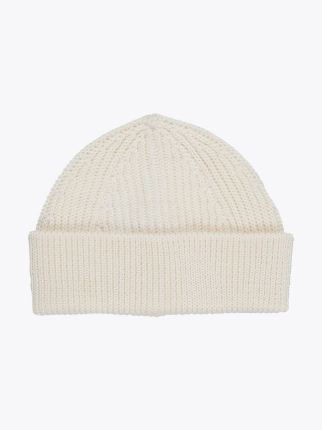Andersen-Andersen Wool Short Beanie Off-White 1