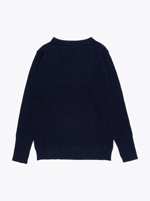 Andersen-Andersen Wool Sailor Crew-Neck Sweater Navy Blue 1