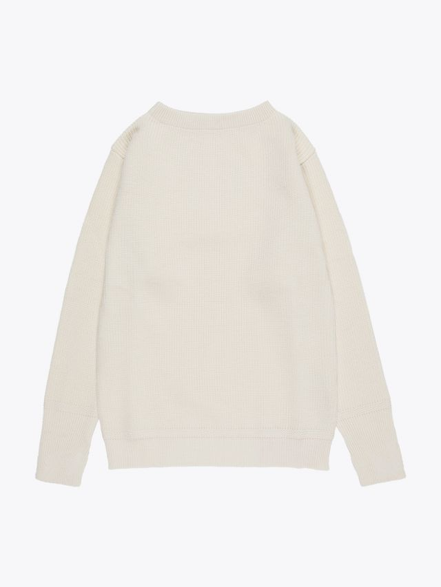 Andersen-Andersen Wool Sailor Crew-Neck Sweater Off-White 1