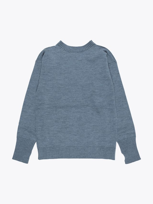 Andersen-Andersen Wool Seaman Sweater Light Indigo 1