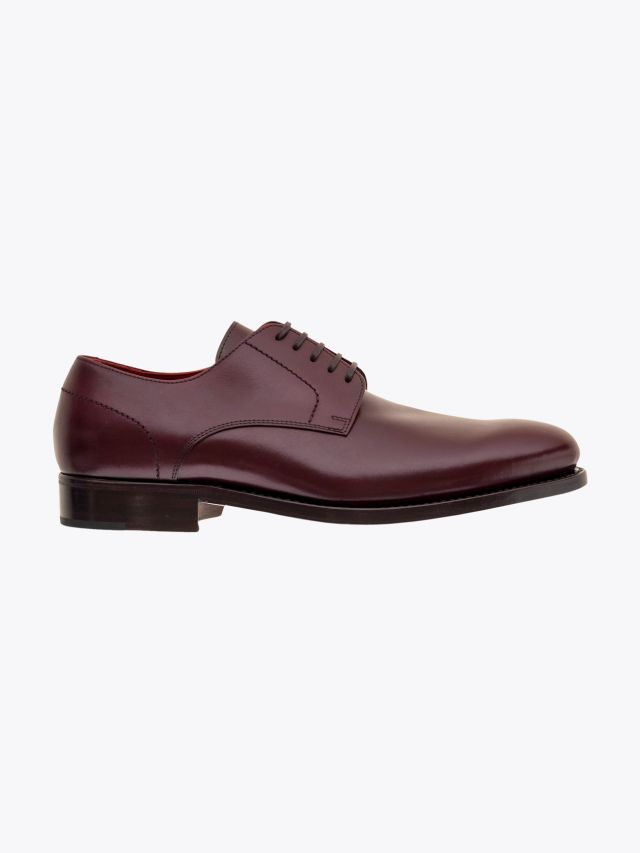 Alexander 1910 French Box Calf Leather Derby Shoes Bordeaux 1