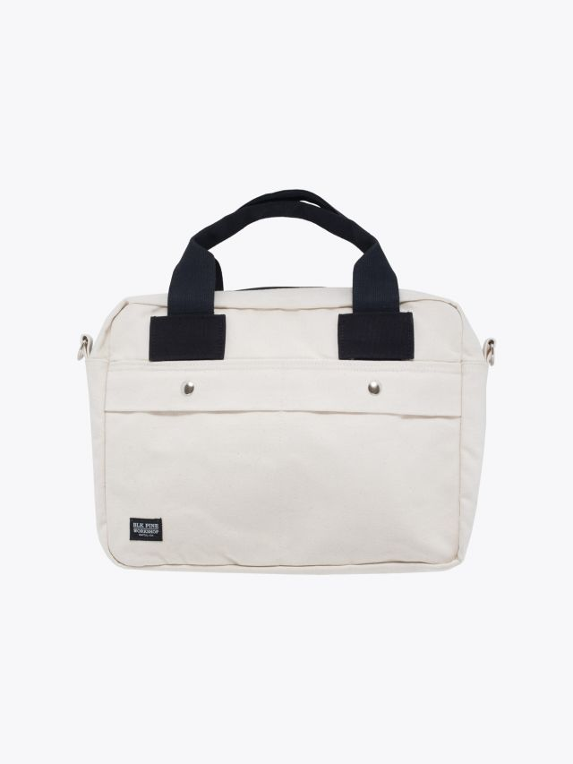 BLK Pine Workshop | Canvas Briefcase Natural Front